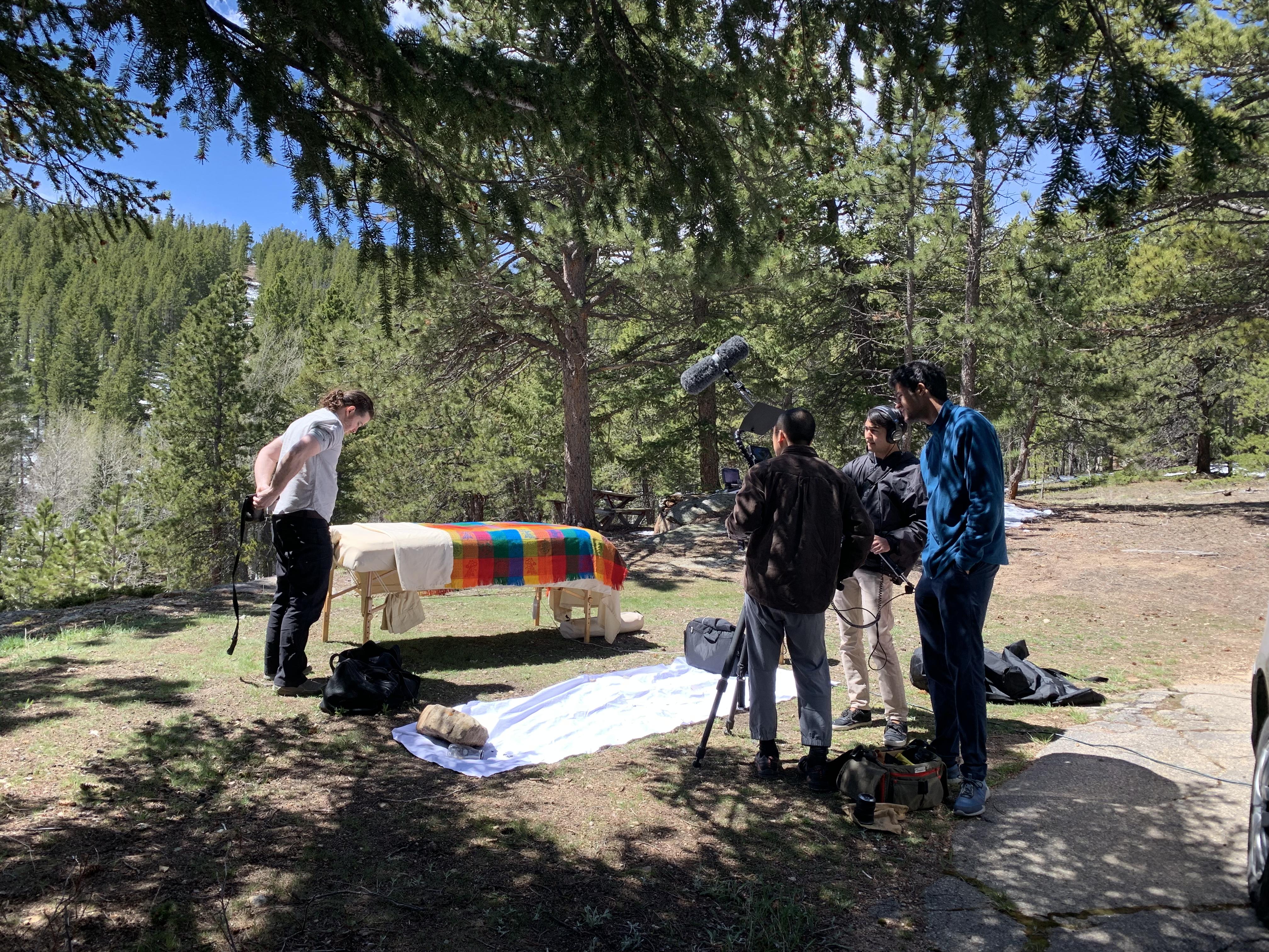 Shooting-a-mountain-scene